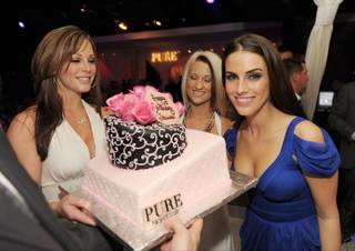 Jessica Lowndes celebrates her 22nd birthday at Pure in Caesars Palace on Nov. 13, 2010.