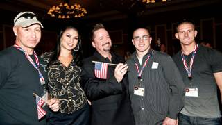 Terry Fator's Tribute to the Troops at The Mirage on Nov. 14, 2010.