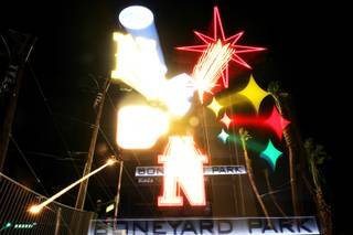 The new sign for the Neon Boneyard Park in Las Vegas Monday, November 15, 2010.