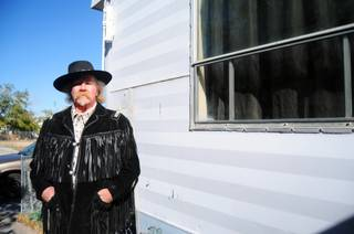 Wyatt Earp, 67, lives in a 1950s-era trailer home in the Tropicana Village Mobile Home Park in Spring Valley. Earp says he would not be able to move his trailer to another mobile home park due to community standards at area parks, which restrict the age of incoming homes.