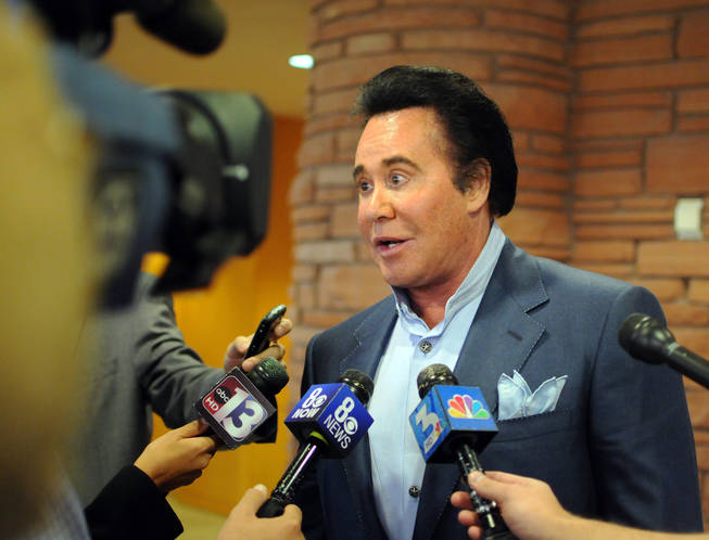 Wayne Newton addresses the media after Clark County Commissioners approved an application that would open up his Las Vegas ranch to the public on Wednesday, Nov. 17, 2010.
