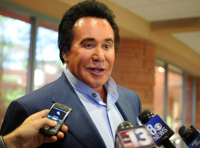 Wayne Newton addresses the media Wednesday, Nov. 17, 2010, after Clark County Commissioners approved an application that would open up his Las Vegas ranch to the public.