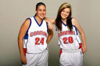 Bishop Gorman basketball players Chelsie Pitt and Ashlin Gross.
