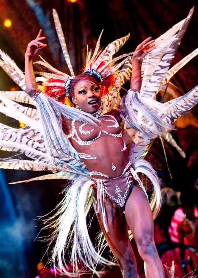 Wassa Coulibaly performs in Cirque du Soleil's <em>Zumanity</em> at New York-New York.