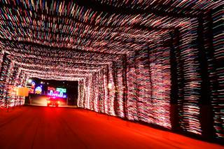The Gift of Lights display is shown Friday at the Las Vegas Motor Speedway.