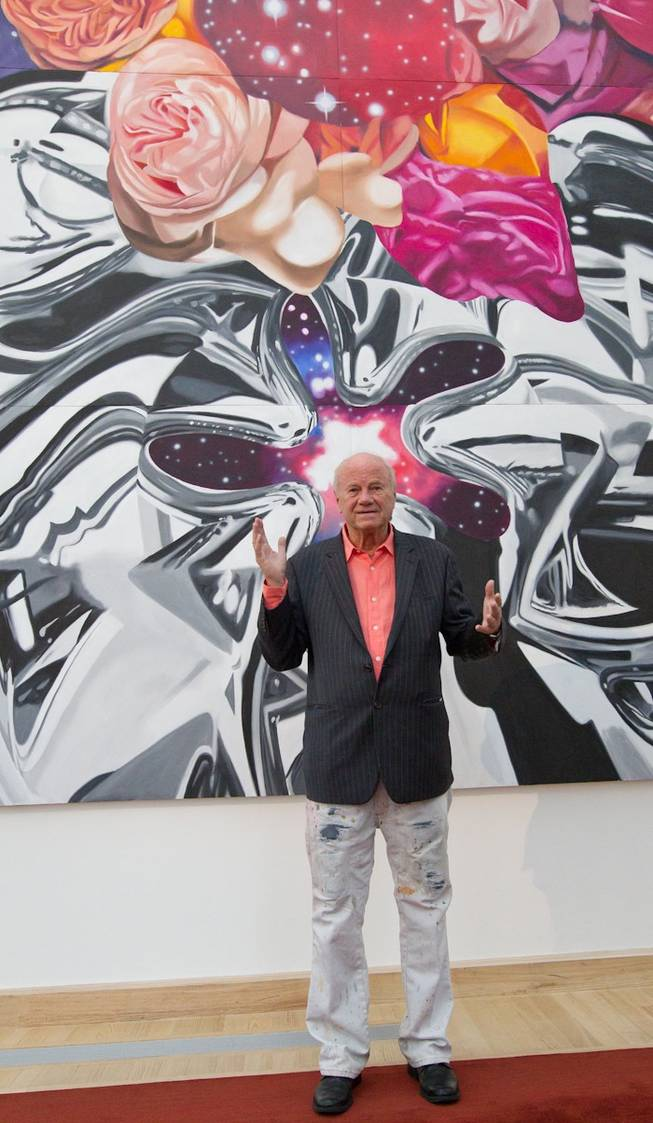 The unveiling of James Rosenquist's painting <em>Cervello Spazio Cosmico (Brain Space)</em> at Cleveland Clinic Lou Ruvo Center for Brain Health on Nov. 20, 2010.