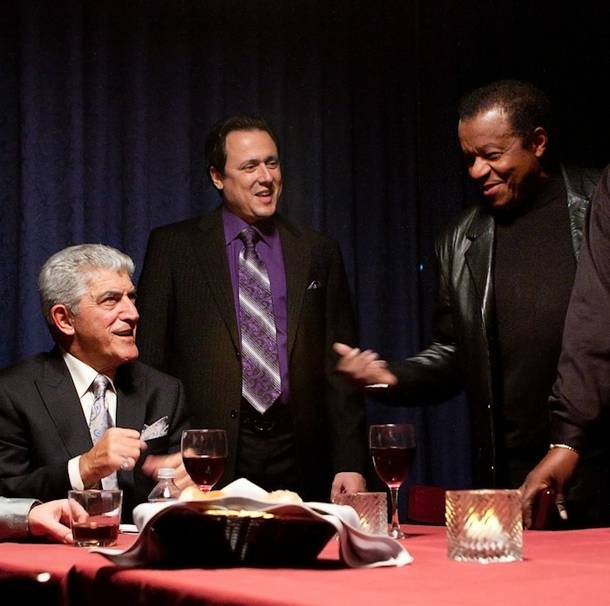 Frank Vincent, Angelo Giordano and Little Anthony on the set of Resurrection: The Wrath of Seduction at Las Vegas Rocks Cafe on Nov. 23, 2010.