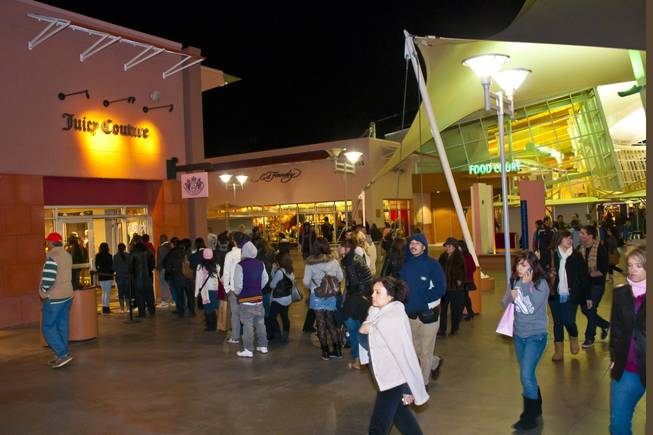 Black Friday frenzy started early for some shoppers as the Las Vegas Premium Outlets opened their doors Thanksgiving night, November 25th 2010.