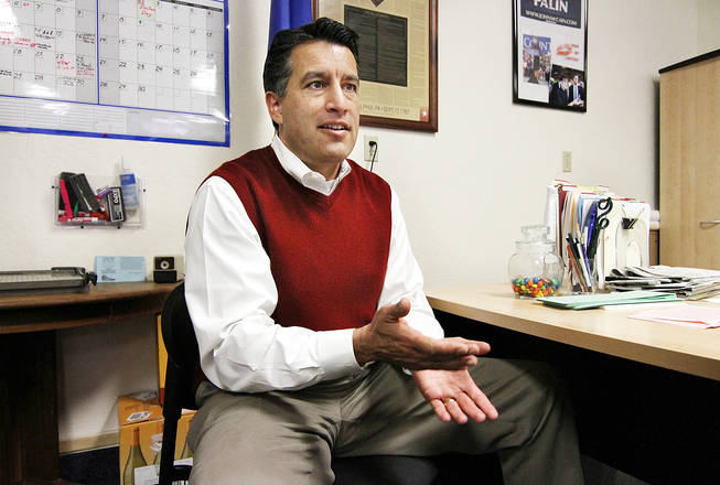 Gov. Brian Sandoval recently met with Senate Majority Leader Harry Reid about funding for Medicaid, Nov. 27, 2010.