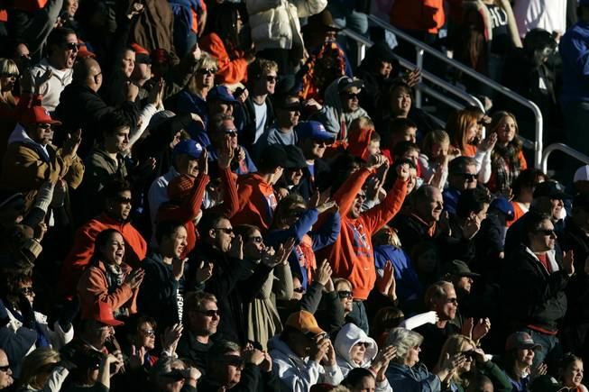 Bishop Gorman fans cheer a touchdown against Palo Verde Saturday, November 27, 2010. Gorman won 28-10 to advance to the state championship game.