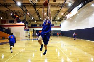 A look at Bishop Gorman big man, Ben Carter, during practice Tuesday, November 30, 2010 at Bishop Gorman High School in Las Vegas.