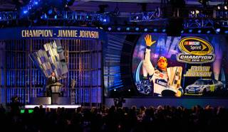 The 2010 NASCAR Sprint Cup Series Awards at the Wynn on Dec. 3, 2010.