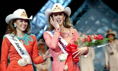 There were five remaining contestants, cloven from a field of 28, yet one of the lovely cowgirls stood tall above the rest.