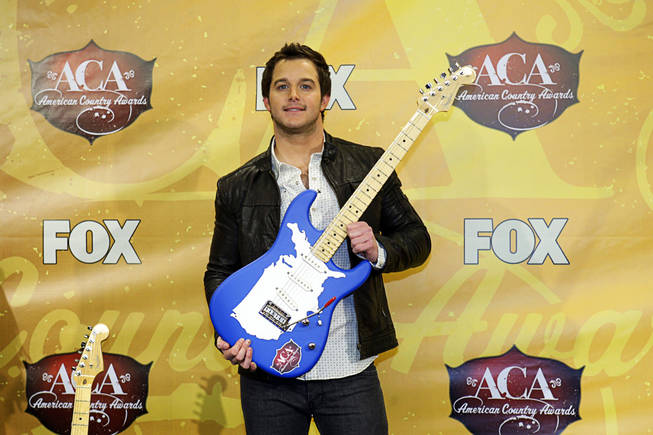 Singer Easton Corbin backstage during the American Country Awards at MGM Grand Garden Arena on Monday, Dec. 6, 2010. Corbin won the award for Breakthrough Artist of the Year.