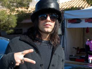 Criss Angel at the KLUC 98.5 FM Holiday Toy Drive on Dec. 7, 2010.