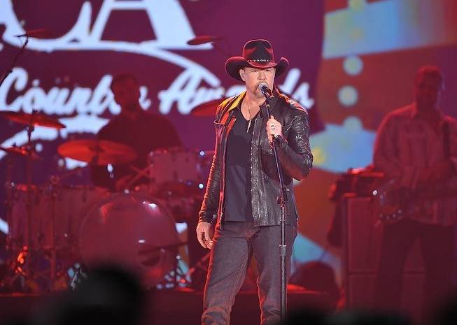 Trace Adkins at the inaugural American Country Awards at MGM Grand Garden Arena on Dec. 6, 2010.
