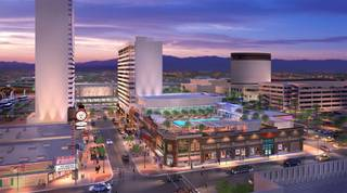 An artist's rendering of the renovations planned to the downtown Lady Luck property.