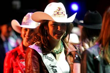Miss Rodeo America 2010 Kelli Jackson took an on-the-fly question about religion during the buckle presentation at South Point this week.