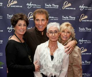 Sinatra: Dance With Me opening night at Encore Theater in the Wynn and the after-party on Dec. 11, 2010. Tina Sinatra, Steve Wynn, Twyla Tharp and Nancy Sinatra are pictured here.