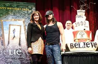 Criss Angel's birthday and 1,000th Believe performance at the Luxor on Dec. 11, 2010.