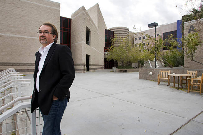 Architect Eric Strain poses by the Classroom Building Complex during a walking tour of UNLV campus Wednesday, December 15, 2010.