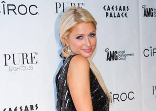 Paris Hilton hosts Former Playboy Playmate of the Month Jennifer Rovero's Birthday at PURE Nightclub at Caesars Palace in Las Vegas, NV on December 14, 2010.