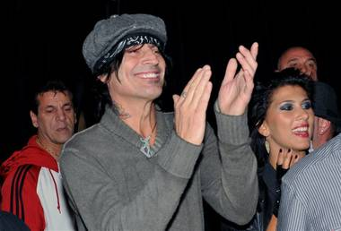Motley Crue's Tommy Lee was on hand Thursday night for the Biggest Tattoo Show on Earth at Mandalay Bay.