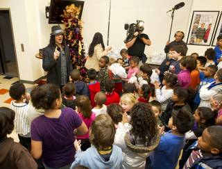 Criss Angel at the Boys & Girls Club of Las Vegas on Dec. 21, 2010.
