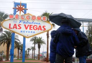 Tourists braved the deluge at the