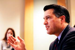 Governor-elect Brian Sandoval speaks during a press conference at Jones Vargas law firm in Las Vegas on Wednesday, Dec. 29, 2010.