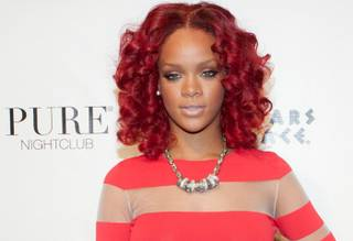 Rihanna hosts New Year's Eve at Pure at Caesars Palace on Dec. 31, 2010.