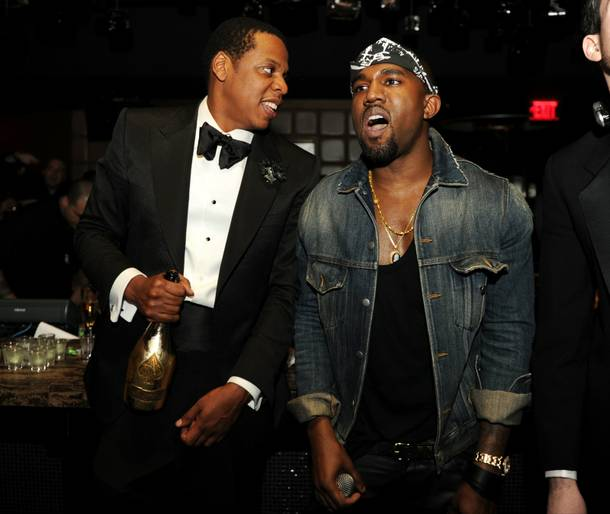 Jay-Z and Kanye West at Marquee at The Cosmopolitan of Las Vegas on Dec. 31, 2010.