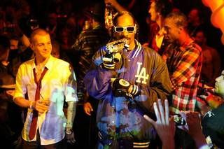 Ryan Sheckler's 21st birthday at Moon in the Palms on Dec. 30, 2010. Snoop Dogg is pictured with him.