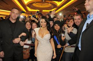 Kim Kardashian hosts New Year's Eve at Tao at The Venetian on Dec. 31, 2010.