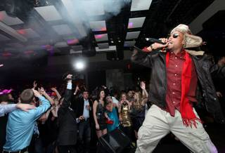 B.o.B. hosts New Year's Eve at Jet at The Mirage on Dec. 31, 2010.