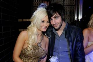 Holly Madison and Jack Barakat at Lavo at the Palazzo on Dec. 31, 2010.
