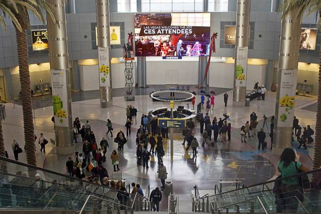 A 627-square-foot video wall is shown in the D Concourse rotunda of McCarran International Airport after it was unveiled Monday, Jan. 3, 2011.
