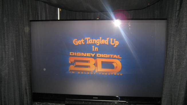 Mitsubishi's 3D DLP home cinema TV. A lot of visual overload with this baby.