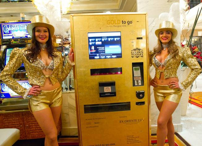 The unveiling of the gold ATM at Golden Nugget on Jan. 5, 2011.