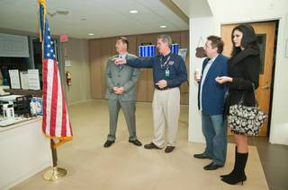 Terry Fator's check presentation to the USO Lounge at McCarran Airport on Jan. 5, 2011.
