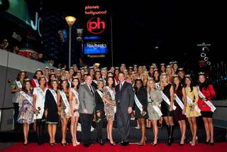 The 2011 Miss America Pageant arrival ceremony at Planet Hollywood on Jan. 6, 2011.