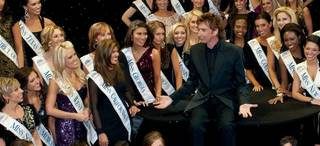 The 2011 Miss America Pageant contestants at Barry Manilow's show at the Paris on Jan. 7, 2011.