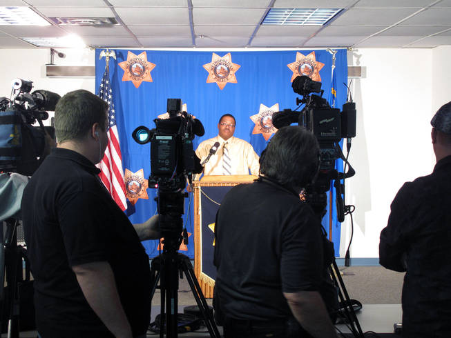 Metro Police Lt. Lew Roberts speaks to the media about the discovery of the body of Deborah Flores-Narvaez and the subsequent arrest of the dancer's ex-boyfriend.