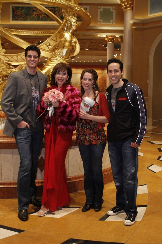 Peter Saide, Rita Rudner, Kristi Holden and Jeff Leibow at Rudner's welcoming ceremony at The Venetian on Jan. 11, 2011.