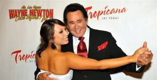 Cheryl Burke and Wayne Newton at the grand opening of his Once Before I Go at the Tropicana on Oct. 28, 2009.
