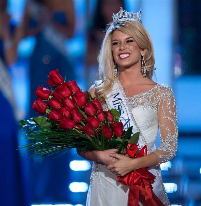 The 2011 Miss America Pageant and the crowning of Miss Nebraska Teresa Scanlan, 17, as the 90th anniversary Miss America at Planet Hollywood on Jan. 15, 2011.