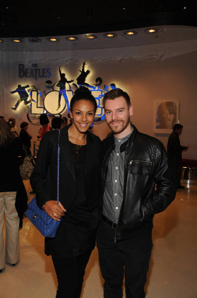 Marsha Thomason and Craig Sykes at <em>Love</em> at The Mirage.