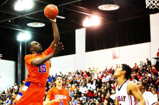 Bishop Gorman's Shabazz Muhammad shoots a runner during the game against Findlay Prep Saturday, January 22, 2011 at the Cox Pavilion. Findlay eked out an 89-86 double overtime win.