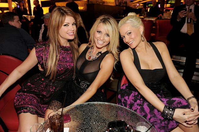 Laura Croft, Angel Porrino and Holly Madison at the <em>Holly's World</em> Season 2 premiere screening party at Planet Hollywood on Jan. 23, 2011.
