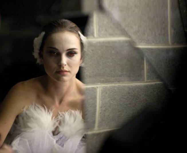 "Natalie Portman, as dark as the title implies, in ""Black Swan."""